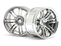 Диски туринг 1/10 - LP35 RAYS VOLK RACING RE30 CHROME (9mm OffSet) 2шт