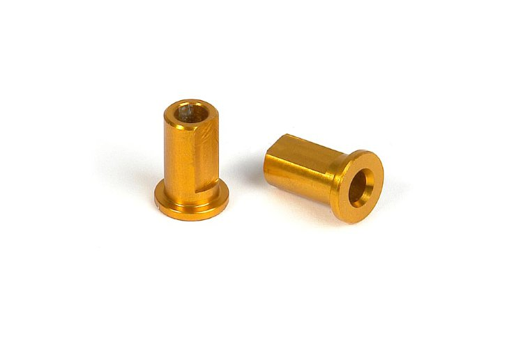 Xray Alu Nut for Suspension Holder - Orange (2)
