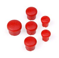 Hudy Plastic Cap For Handle (Set - 3+2+1) Red