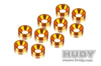 Hudy Alu Countersunk Shim - Orange (10)