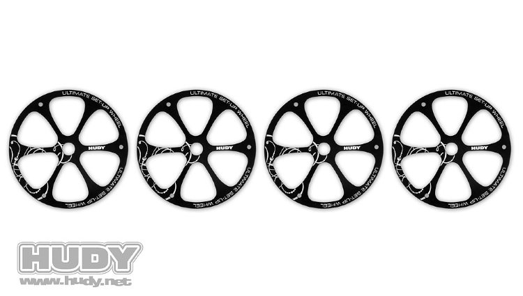 Hudy Alu Set-up Wheel for 1/8 Off-Road Cars (4)