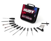 Hudy Set Of Tools + Carrying Bag - For 1/8 Off-road Cars