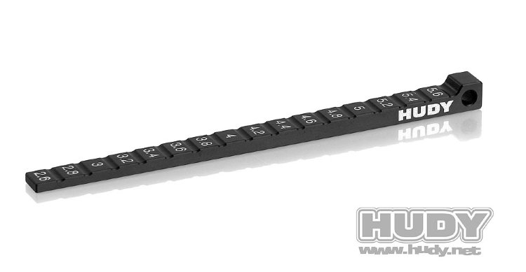 Hudy Ride Height Gauge Stepped 1/10 & 1/12 Pan Cars