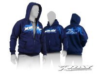 Xray Sweater Hooded With Zipper - Blue (S)