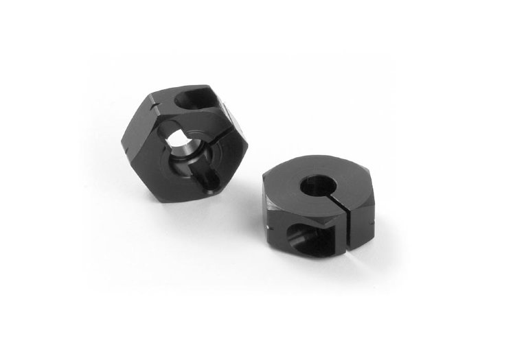 "Xray Alu Wheel Hub - Offset ""+0.75mm"" - Black (2)"