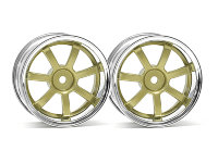Диски 1/10 - RAYS GRAM LIGHTS 57S-PRO CHROME/GOLD (3мм OFFSET) 2шт