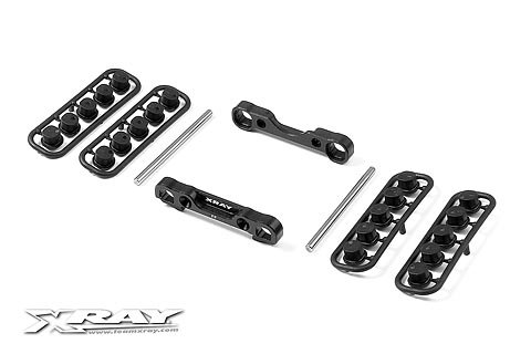Xray XB808 Alu Front Lower Susp. Holders Set -Square Adj. Roll-C.